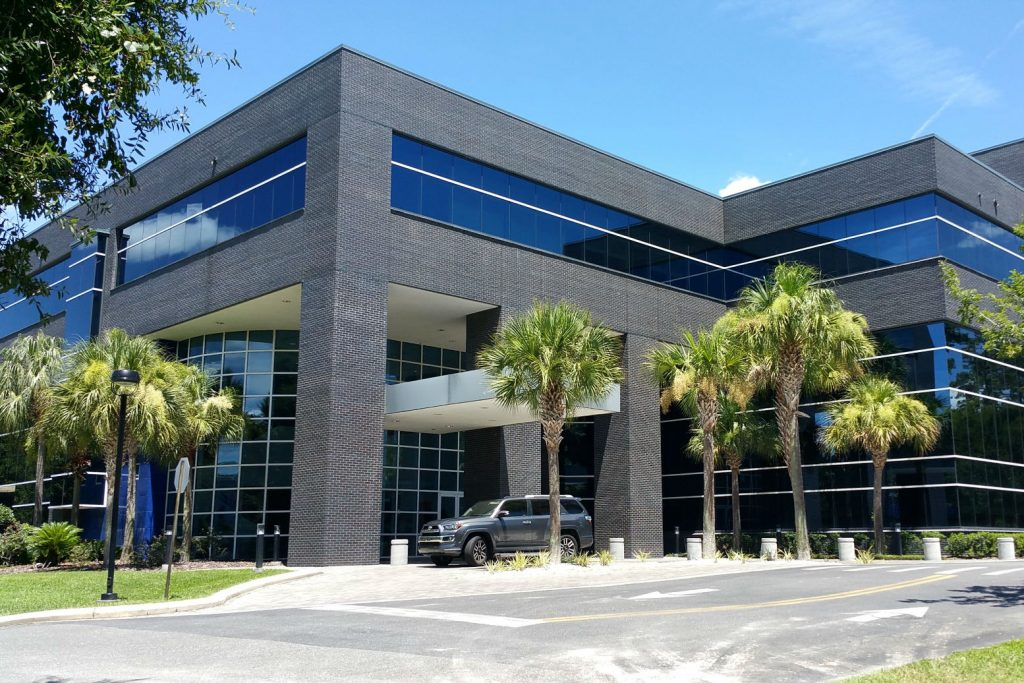 A commercial office building managed by Bosshardt Property Management